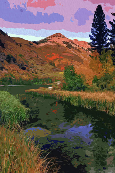 Painting - North Lake In Bishop Canyon, California by Andrea Mazzocchetti