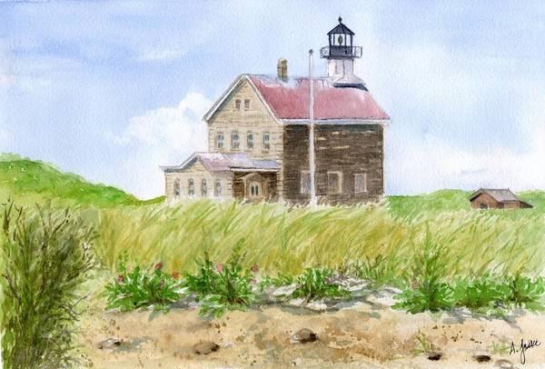 Painting - North Light - Block Island by Anna Jacke