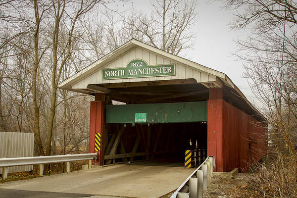 Photograph - North Manchester Covered Bridge by Jack R Perry
