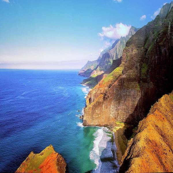 Digital Art - North Na Pali Coast   by OLena Art - Lena Owens