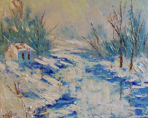 Painting - North Of France Winter by Frederic Payet