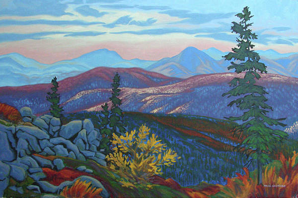 Wall Art - Painting - North On The Dempster Hwy. by Paul Gauthier