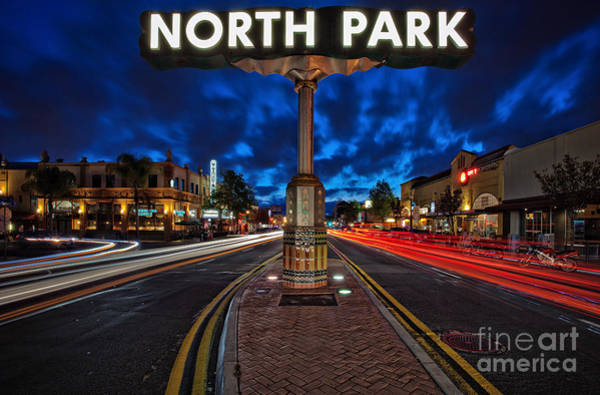 Photograph - North Park Neon Sign San Diego California by Sam Antonio