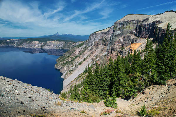 Photograph - North Rim Of Crater Lake by Frank Wilson