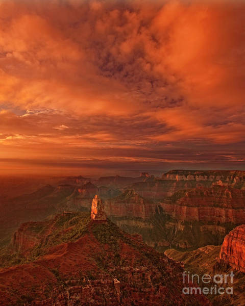 Photograph - North Rim Storm Clouds Grand Canyon National Park Arizona by Dave Welling