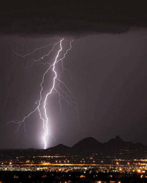 Photograph - North Scottsdale Lightning Strike by James BO Insogna