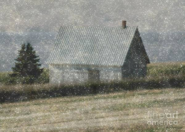 Prince Edward Island Painting - North Shore Snowstorm by RC DeWinter