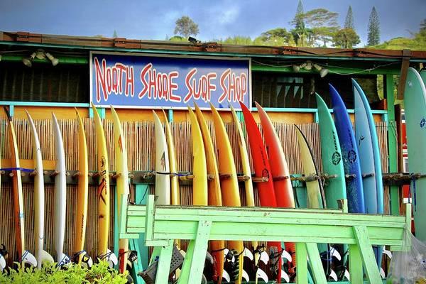 Photograph - North Shore Surf Shop 1 by Jim Albritton