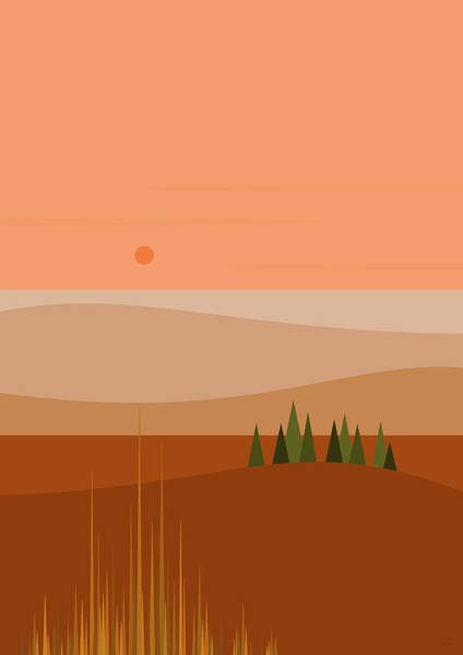 Digital Art - North West Hills by Val Arie