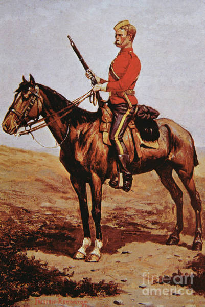 Rifle Drawing - North West Mounted Police Of Canada by Frederic Remington