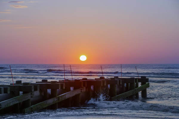 Storm Drain Photograph - North Wildwood At Sunrise by Bill Cannon