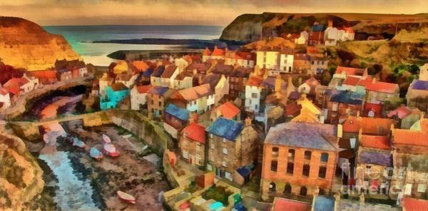 North Wales Wall Art - Painting - North Yorkshire Coast by Edward Fielding
