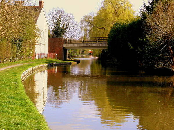 Wall Art - Photograph - Northamptonshire Canal In England by Mindy Newman