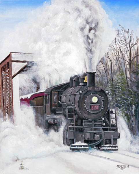 Painting - Northbound At 35 Below by Joe Baltich