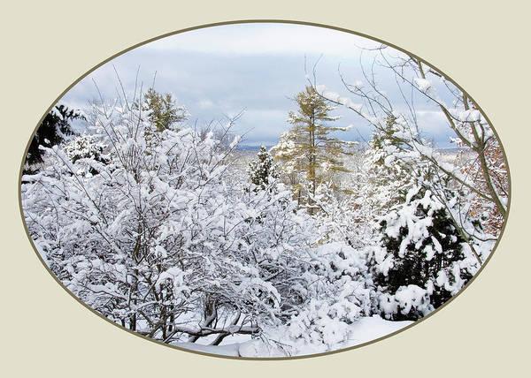 Digital Art - northeast USA photography button by Lise Winne