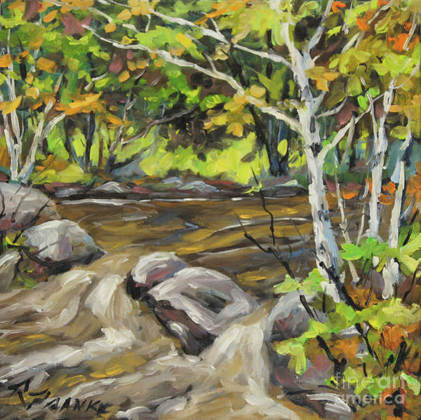 Wall Art - Painting - Northerm Stream Woodland Created By Richard T Pranke by Richard T Pranke