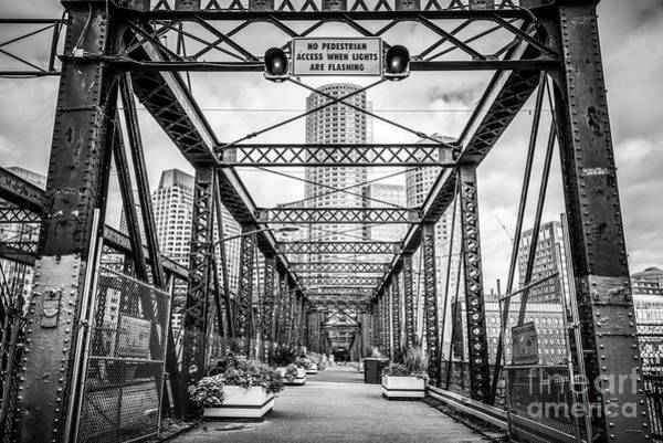 Wall Art - Photograph - Northern Avenue Bridge Black And White Photo by Paul Velgos