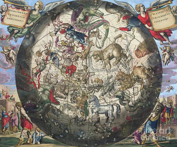 Wall Art - Painting - Northern Boreal Hemisphere by Andreas Cellarius