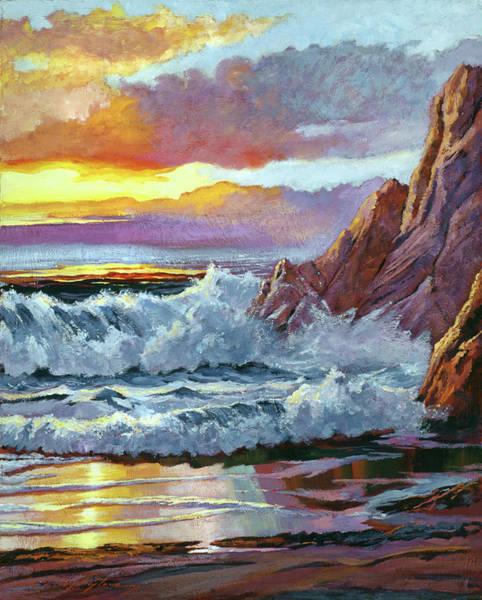 Painting - Northern California Coastline by David Lloyd Glover