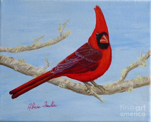 Painting - Northern Cardinal 2 by Alicia Fowler