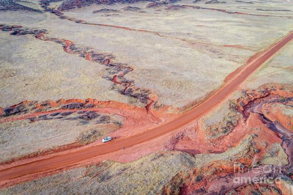 Photograph - northern Colorado foothills aerial view by Marek Uliasz