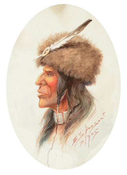 Turkey Feather Wall Art - Painting - Northern Indian by Edgar Samuel Paxson