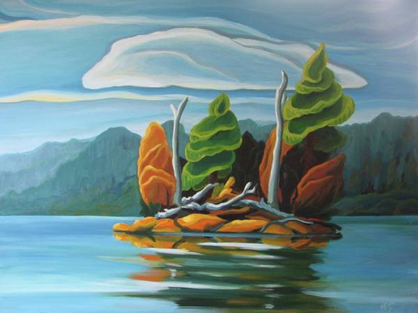 Painting - Northern Island by Barbel Smith