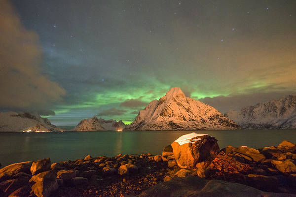 Photograph - Spectacular Night In Lofoten 3 by Dubi Roman