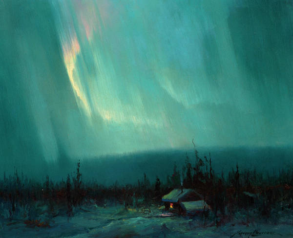 Wall Art - Painting - Northern Lights, Arctic by Sydney Mortimer Laurence