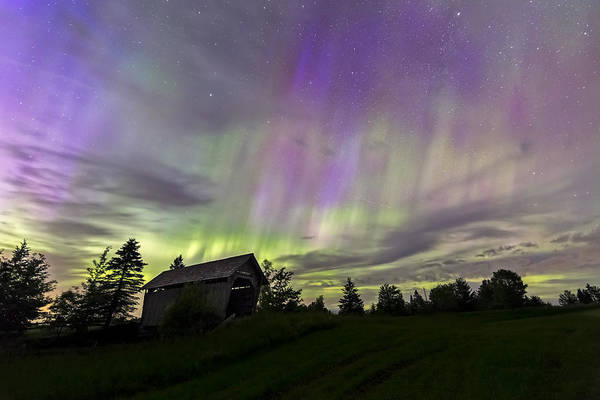 Photograph - Northern Lights Cabot Vermont by John Vose