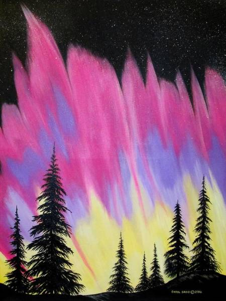 Wall Art - Painting - Northern Lights by Carol Sabo