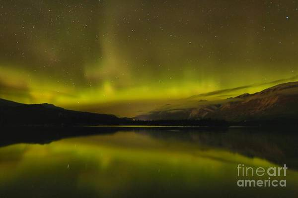 Photograph - Northern Lights In The Canadian Rockies by Adam Jewell
