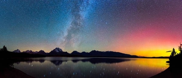 Photograph - Northern Lights Over Jackson Lake by Darren White