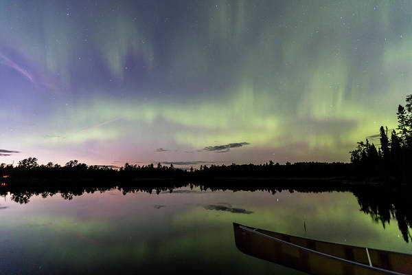 Photograph - Northern Lights Over South Kawishiwi by Paul Schultz