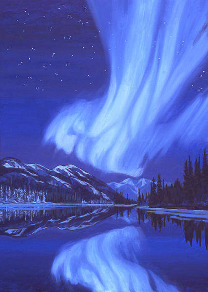 Wall Art - Painting - Northern Lights by Paul Gauthier