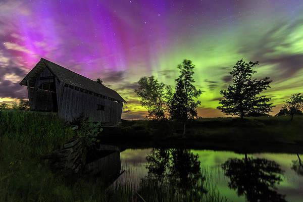 Northern Lights Reflection Art Print