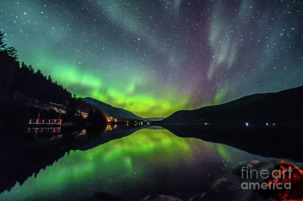 Nelson Bc Photograph - Northern Lights Reflection- Canada  by Joy McAdams