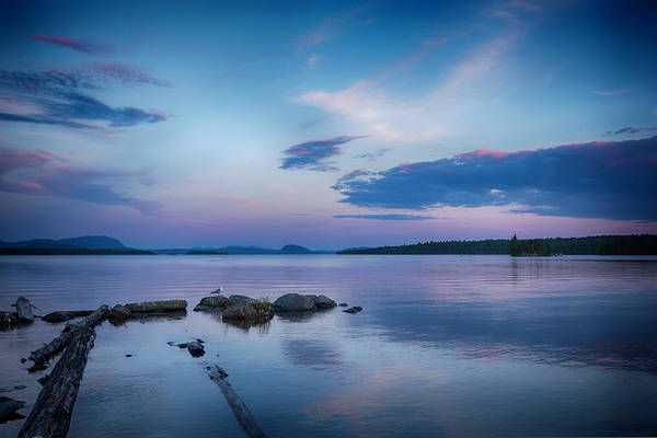 Wall Art - Photograph - Northern Maine Sunset Over Lake by Justin Mountain