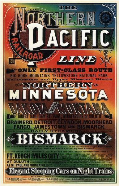 Northern Minnesota Wall Art - Mixed Media - Northern Pacific Railroad - Northern Minnesota - Retro Travel Poster - Vintage Poster by Studio Grafiikka