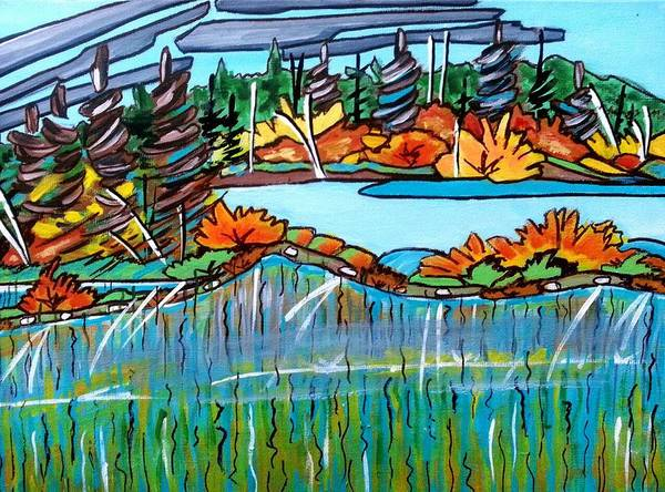 Painting - Northern Reflections 2 by Nikki Dalton