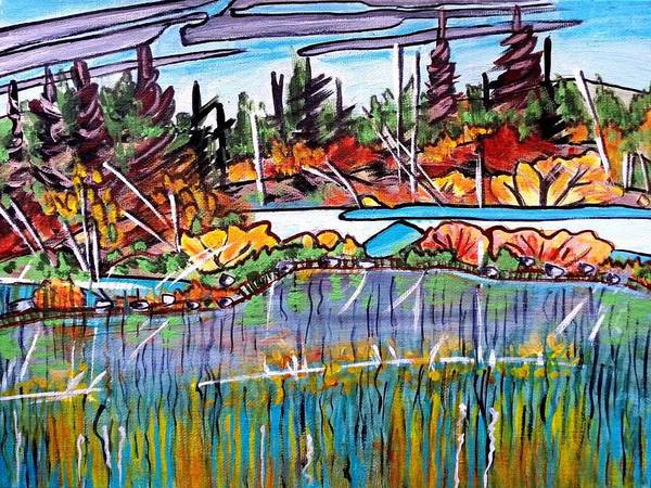 Painting - Northern Reflections by Nikki Dalton
