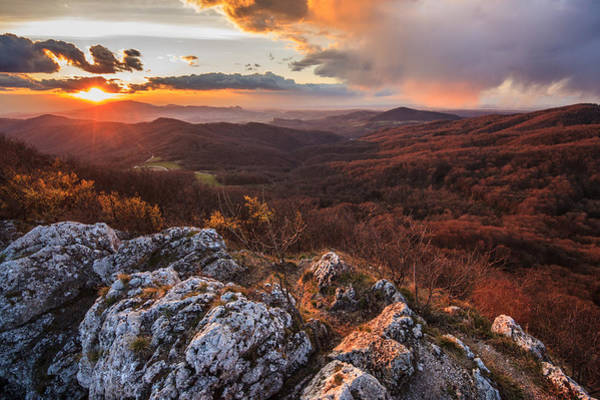 Mountain Sunset Photograph - Northern Territory by Davorin Mance