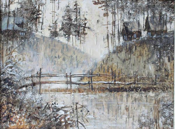 Painting - Northern Village On The Hills. Russia by Ilya Kondrashov