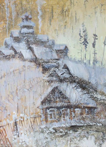 Painting - Northern Winter Village by Ilya Kondrashov