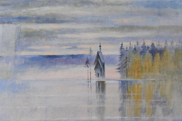 Painting - Northern Zen. Fragment by Valentina Kondrashova