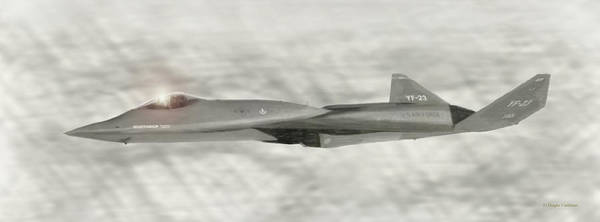 Digital Art - Northrop F-23 Stealth Fighter Prototype by Douglas Castleman