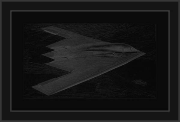 B61 Wall Art - Photograph - Northrop Grumman B-2 Spirit Stealth Bomber On A Dangerous Night Mission Into Enemy Airspace 4 Border by L Brown