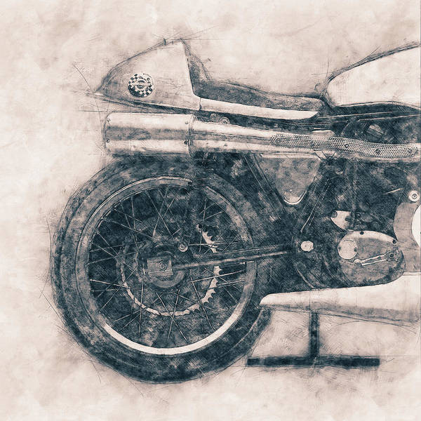 Wall Art - Mixed Media - Norton Manx - Norton Motorcycles - 1947 - Vintage Motorcycle Poster - Automotive Art by Studio Grafiikka