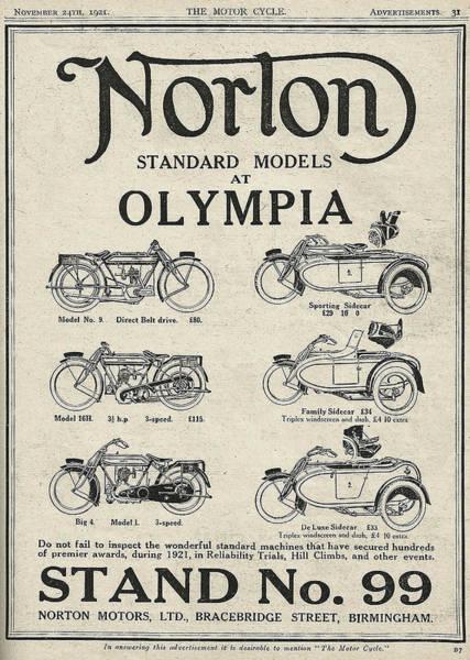 Parallels Wall Art - Digital Art - Norton Vintage Poster by Yurdaer Bes