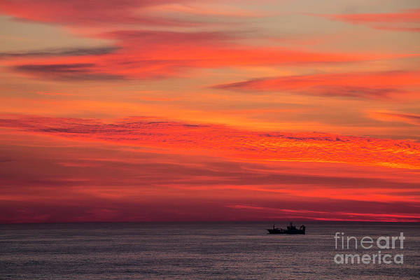 Wall Art - Photograph - Norwegian Sunset With Boat by Sheila Smart Fine Art Photography